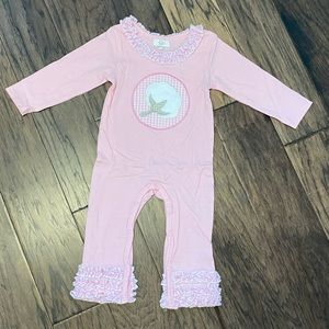 🌸NWOT🌸 Size 18-24 Month Pink Cotton Icing Romper